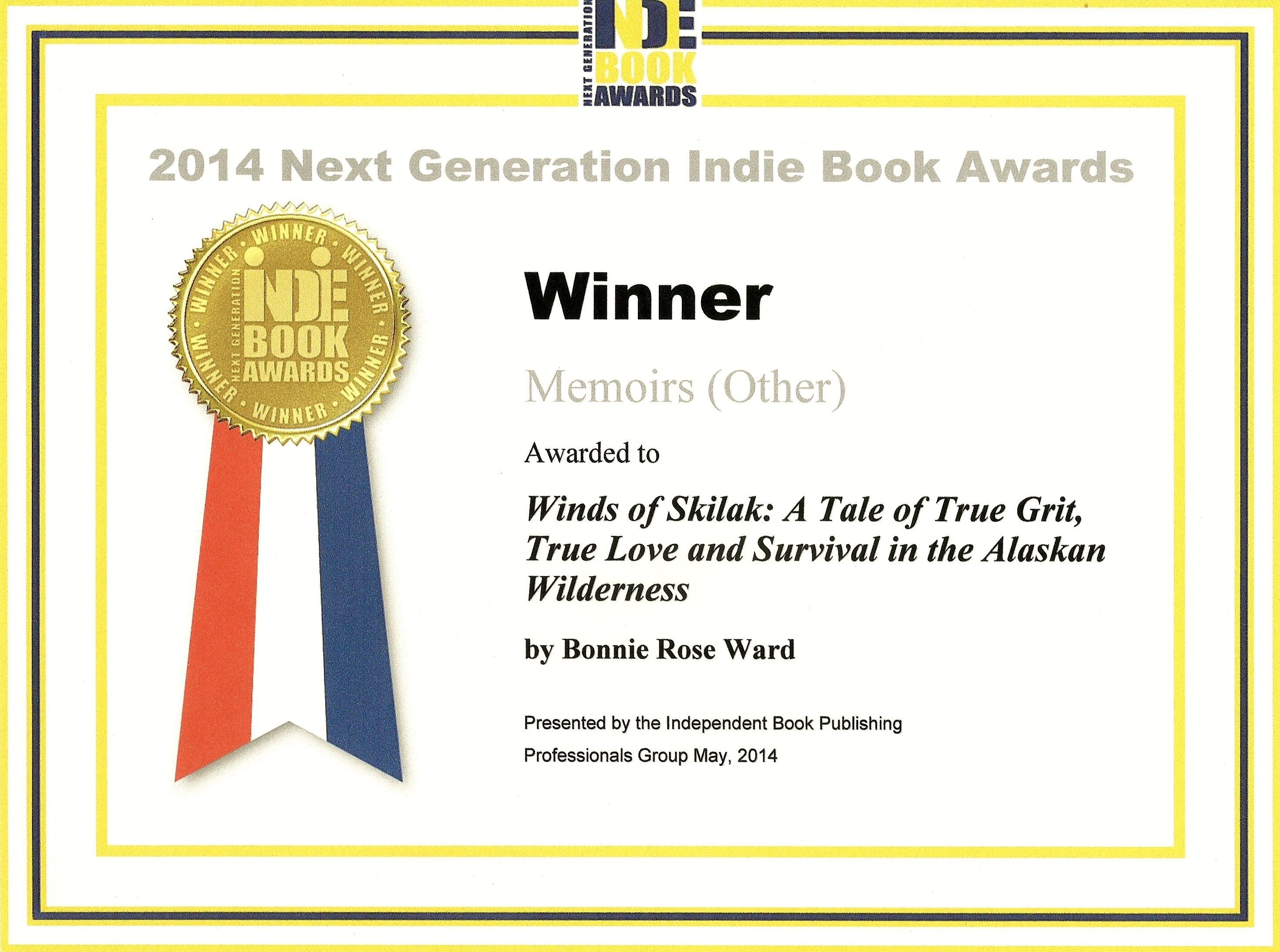 WINDS OF SKILAK is the WINNER of the 2014 Next Generation