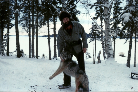 With winter comes trapping. Here is Sam with a Coyote!